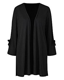 Black Rib Jersey Cardigan