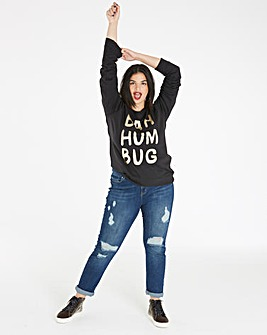 Bah Hum Bug Foil Christmas Sweatshirt