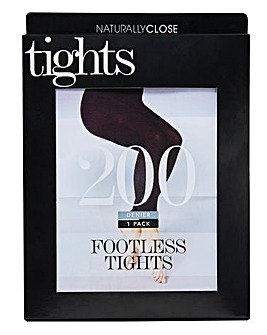 200 Denier Footless Opaque Tights
