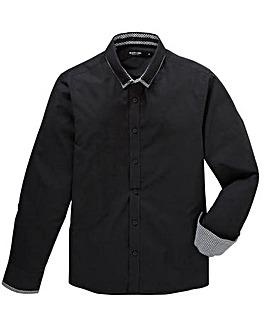 Black Label Plain Double Collar Shirt R