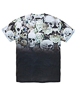 Label J Skull Fade T-Shirt Long