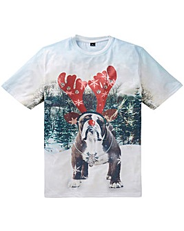 Label J Xmas Bulldog Tee Long