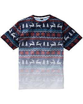 Label J Xmas Reindeer Tee Long