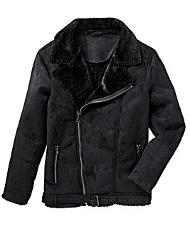 Label J Shearling Aviator Jacket Long