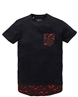 Label J Longline Marble Print T-Shirt