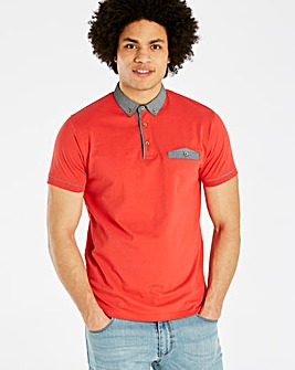 Black Label Red S/S Pocket Trim Polo L