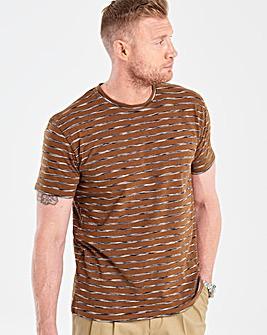 Flintoff By Jacamo Tobacco T-Shirt R