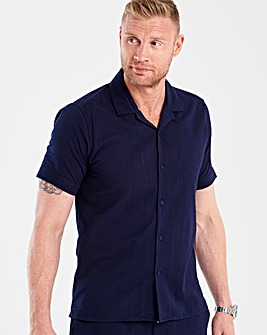 Flintoff By Jacamo S/S Navy Shirt R