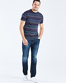 Jacamo Spot Stripe T-Shirt Reg