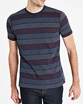 Jacamo Spot Stripe T-Shirt Long