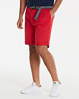 Black Label Red Belted Chino Shorts