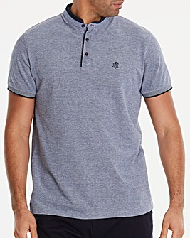 Black Label Blue S/S Grandad Polo L