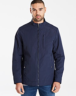 Black Label Navy Biker Jacket L