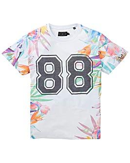 Label J Floral 88 T-Shirt Reg