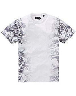 Label J Side Floral T-Shirt Long