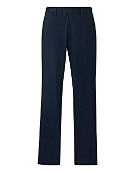 Black Label Navy Slim Trousers 31in