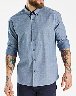 Black Label Blue L/S Dot Print Shirt L