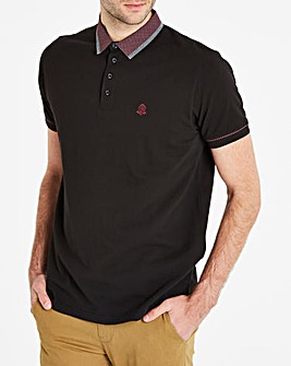 Black Label Black S/S Trim Collar Polo L