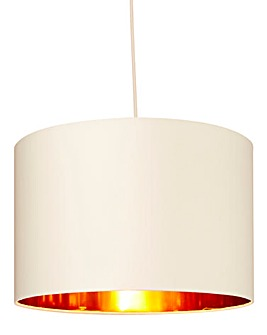 Bjorn Cream and Gold Pendant Shade