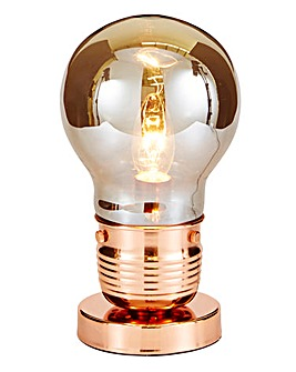 Copper Bulb Table Lamp