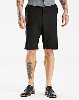 Jacamo Black Label Black Linen Shorts