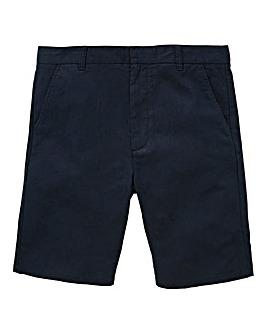Black Label Navy Linen Mix Slim Shorts