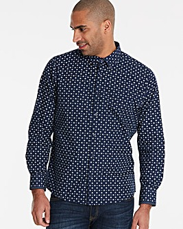 Black Label Navy L/S Geo Print Shirt R