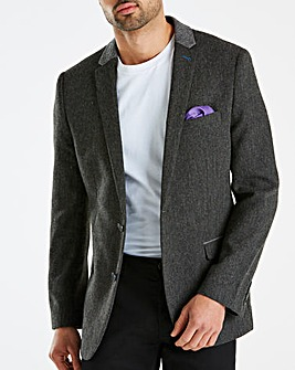 Jacamo Black Label Grey Tweed Blazer L