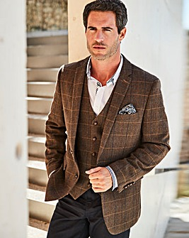 Black Label Brown Checked Tweed Blazer R