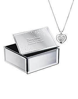 Personalised Heart Pendant & Trinket Box