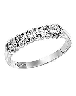 Moissanite 1/2 Carat Half Eternity Ring