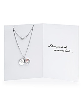 Personalised Two Tone Silver Pendant
