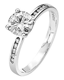 Moissanite 9 Ct Gold 1 Carat Dress Ring