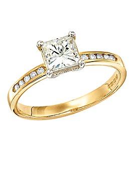 Moissanite 9 Carat Gold 1.15 Carat Ring