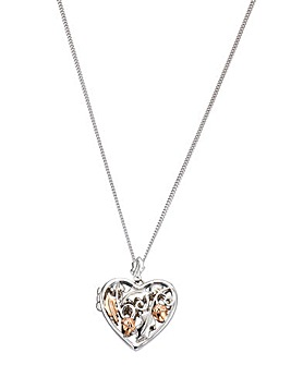 Clogau Silver & Rose Gold Heart Pendant