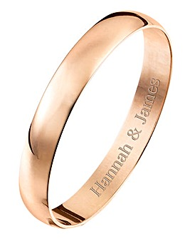 Personalised Rose Gold Ladies Band