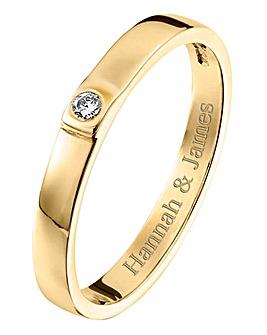 Personalised 9 Carat Gold Diamond Ring