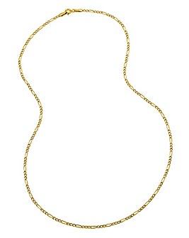 9 Carat Gold 18inch Figaro Chain