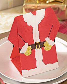 Santa Napkins Pack 12