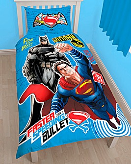 Batman Vs Superman Clash Panel Duvet