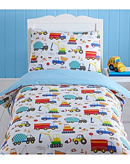 Bright Trucks Toddler Duvet Cover Set