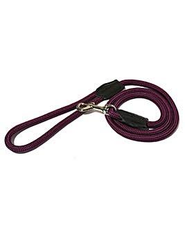 """Rope Twist Lead 64"""" Purple"""
