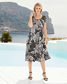 Nightingales Geo Print Dress