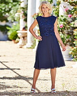 Nightingales Sequin Lace Bodice Dress
