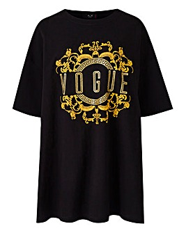AX Paris Curve Printed Vogue Tee