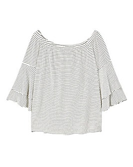 Violeta by Mango Stripe Bardot Top
