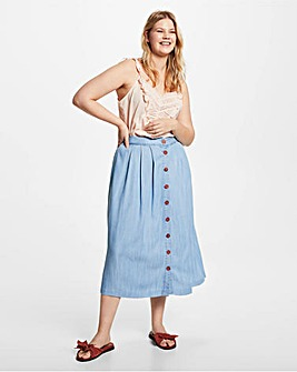 Violeta by Mango Pleated Tencel Skirt
