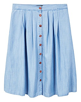 Violeta by Mango Pleated Tencel Skirt