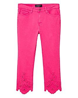 Violeta by Mango Crochet Detail Jeans