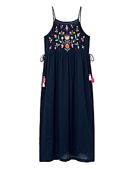 Violeta by Mango Embroidered Dobby Maxi